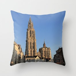 Our Lady Cathedral - Antwerp Throw Pillow