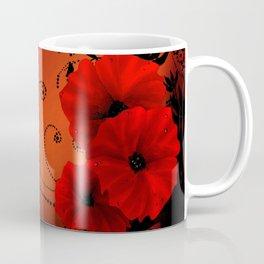 Poppy flowers, sunset Coffee Mug