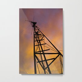 The Old Radio Tower at Sunset Metal Print