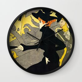 Toulouse Lautrec Divan Japonais music hall Wall Clock