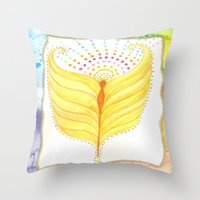 angel wings Throw Pillows featuring Angel Wings  by ChristiaSoulArt