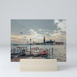 Sunset in Venice Mini Art Print