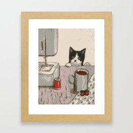 Crafty Cat Framed Art Print