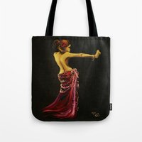 """dancer Tote Bags featuring Dancer by Barbora """"Mad Alice"""" Urbankova"""