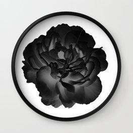 Black peony Wall Clock
