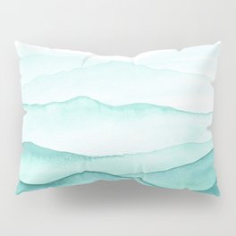 Mint Mountains Pillow Sham