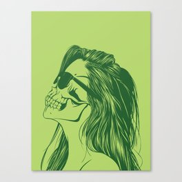 Skull Girl 2 Canvas Print