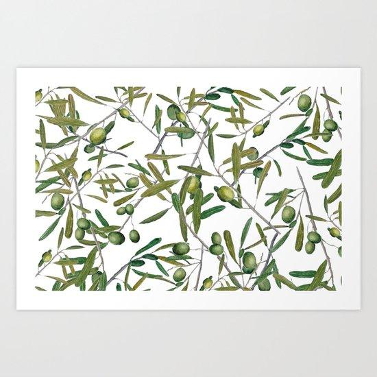 olive pattern Art Print
