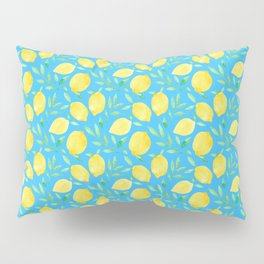 Blue Lemons Pillow Sham