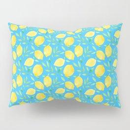 Blue Lemons Pillow Sham
