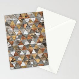 Rustic Geometry 3 Stationery Cards