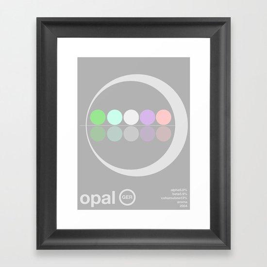 opal single hop Framed Art Print