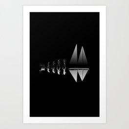 Sailor Evolution Art Print