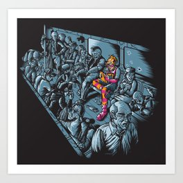 Dark Knight Light Art Print