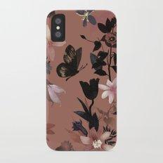 Autumn flowers in the garden iPhone X Slim Case