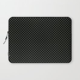 Black and Duffel Bag Polka Dots Laptop Sleeve