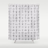sugar skulls Shower Curtains featuring Sugar Skulls by Samantha Scafidi