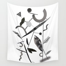 Abstract Botanica - 2 Wall Tapestry