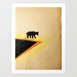 White Bear After Black gold Bath   Art Print