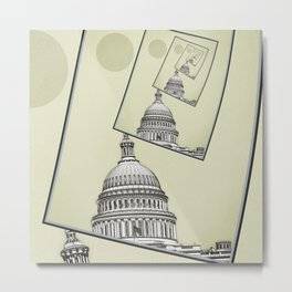 Political Spin Metal Print