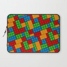 Building Blocks, Red Blue Green Yellow Bricks Laptop Sleeve