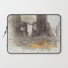 NYC Yellow Cabs Flat Iron Building - SKETCH Laptop Sleeve