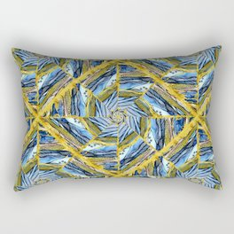 golden day kaleidoscope pattern Rectangular Pillow