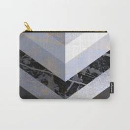Chevron Pattern 2. Blue, Marble and Glitter #decor #buyart Carry-All Pouch