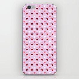 Valentines - Pink Heart Pattern iPhone Skin