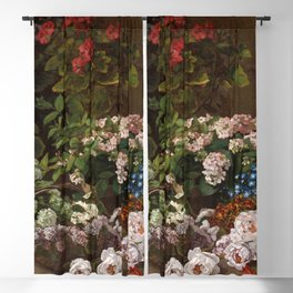 Spring Flowers - By Claude Monet Blackout Curtain
