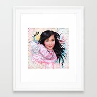 bjork Framed Art Prints featuring Bjork by Will Costa