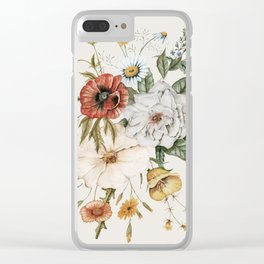 Wildflower Bouquet Clear iPhone Case