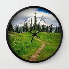 Pathway to the Mountain Wall Clock