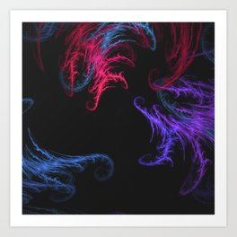 Cool Winds Abstract Art Print