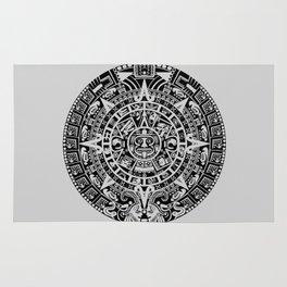Mayan Calendar // Light Grey Rug