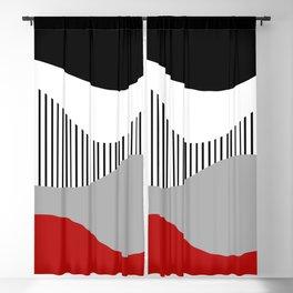 Colorful waves design 2 Blackout Curtain