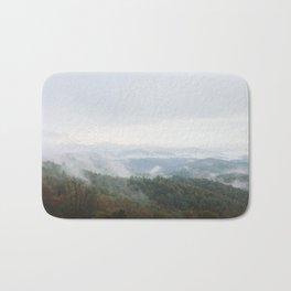 Foggy Mountains Bath Mat