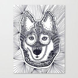 Husky doodle Canvas Print