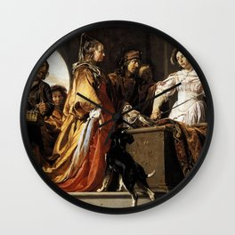 Jan de Bray - The Discovery of Achilles among the Daughters of Lycomedes Wall Clock
