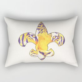 Fleur De Lis LSU Tiger Rectangular Pillow