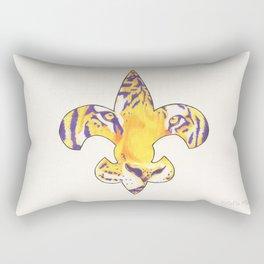 Fleur De Lis LSU Tiger Rectangular Pillow