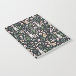 Cute rabbits (dark blue) Notebook