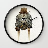 walrus Wall Clocks featuring walrus by Manoou