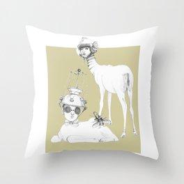 Weird & Wonderful: Space Deer Throw Pillow