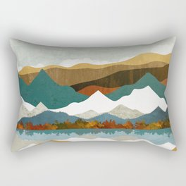 Winter Lake Rectangular Pillow