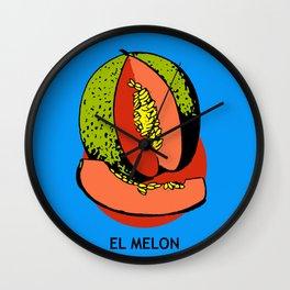 El Melon Mexican Loteria Card Wall Clock