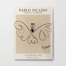 Picasso - Butterfly Metal Print