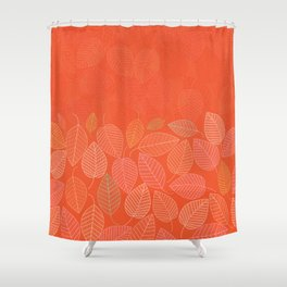 LEAVES ENSEMBLE ORANGE FLAME Shower Curtain