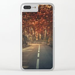 On the turning Clear iPhone Case