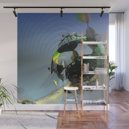 Mysterious Flying Vehicle Landing Wall Mural